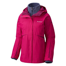 Columbia Blazing Star Interchange Womens Insulated Ski Jacket, Deep Bush, 256