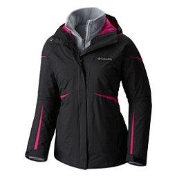 Columbia Blazing Star Interchange Big Womens Insulated Ski Jacket, Black Deep Blush, 256