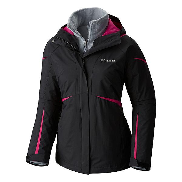 Columbia Blazing Star Interchange Big Womens Insulated Ski Jacket, Black Deep Blush, 600