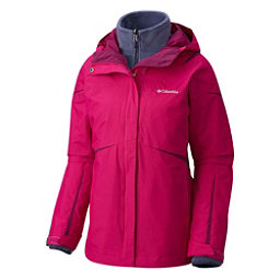 Columbia Blazing Star Interchange Big Womens Insulated Ski Jacket, Deep Blush, 256
