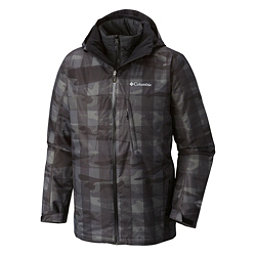 Columbia Whirlibird Interchange Mens Insulated Ski Jacket, Black Camo, 256