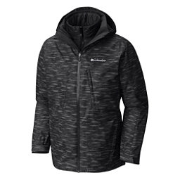Columbia Whirlibird Interchange Mens Insulated Ski Jacket, Black Textur, 256