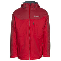 Columbia Whirlibird Interchange Mens Insulated Ski Jacket, Mountain Red Beat, 256