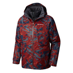 Columbia Whirlibird Interchange Mens Insulated Ski Jacket, Deep Rust Camo, 256