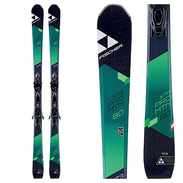 Fischer XTR Pro MTN 80 RT Skis with MBS 10 Powerrail Bindings, , 600