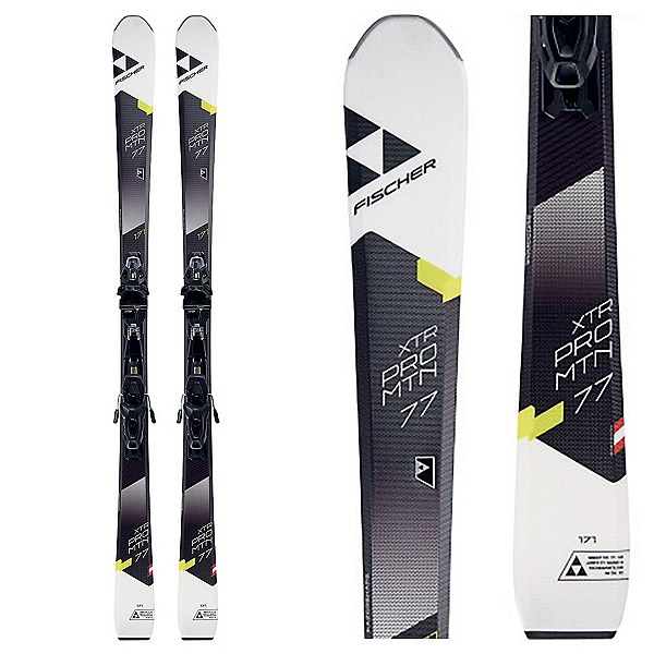 Fischer XTR Pro MTN 77 RT Skis with MBS 10 Power Rail Bindings, , 600