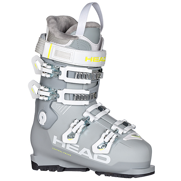 Head Advant Edge 75 HT W Womens Ski Boots, Gray-Yellow, 600