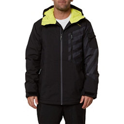 O'Neill Cue Mens Insulated Snowboard Jacket, Black Out, 256