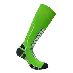 Euro Sock Board Shredder Silver Snowboard Socks, Lime, 256