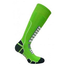 Euro Sock Board Shredder Silver Snowboard Socks, Lime, 256