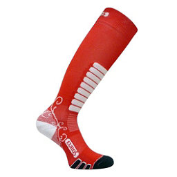 Euro Sock Sweet Silver Womens Ski Socks, Coral, 256
