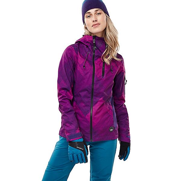 O'Neill Jones Contour Womens Insulated Snowboard Jacket, Purple Aop, 600