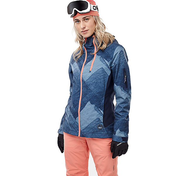 O'Neill Jones Contour Womens Insulated Snowboard Jacket, Blue Aop, 600