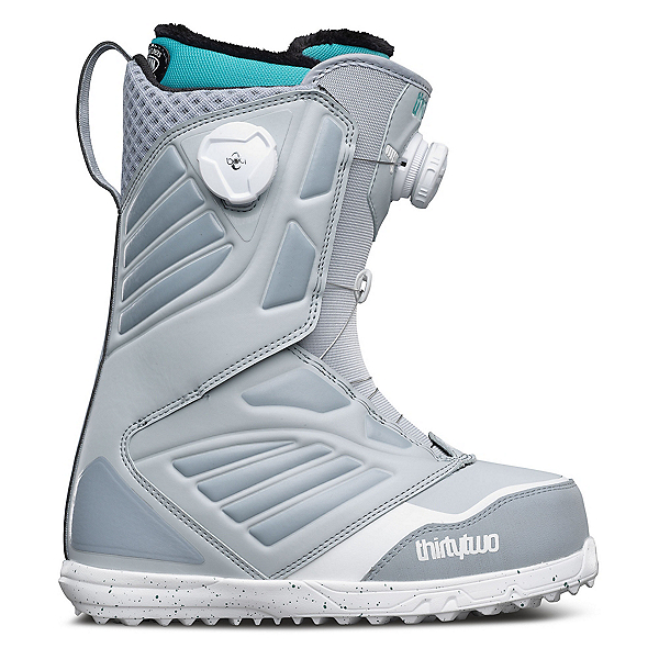 ThirtyTwo Binary BOA Womens Snowboard Boots, Grey-Blue, 600