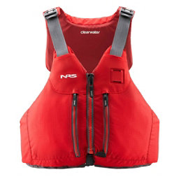 NRS Clearwater Mesh Adult Kayak Life Jacket 2018, Red, 256