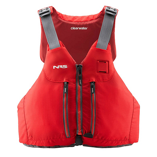 NRS Clearwater Mesh Adult Kayak Life Jacket 2019, Red, 600