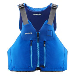 NRS Clearwater Mesh Adult Kayak Life Jacket 2018, Blue, 256