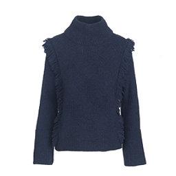 Woolrich Cardinal Peak Fringe Turtleneck Womens Sweater, , 256