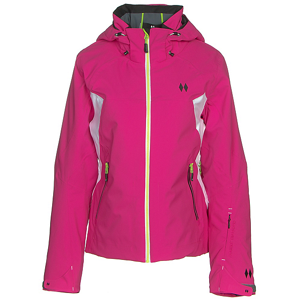 Double Diamond Wisp Womens Insulated Ski Jacket, Bright Pink, 600
