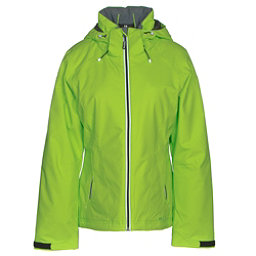 Double Diamond Daze Womens Insulated Ski Jacket, Acid Green, 256