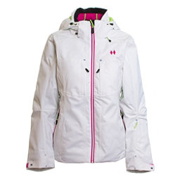 Double Diamond Fame Womens Insulated Ski Jacket, White, 256