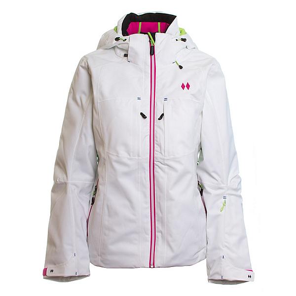 Double Diamond Fame Womens Insulated Ski Jacket, White, 600
