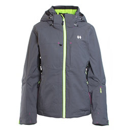 Double Diamond Fame Womens Insulated Ski Jacket, Charcoal, 256