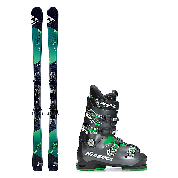 Fischer XTR Pro MTN 80 RT Sportmachine 80 Ski Package 2018, , 600