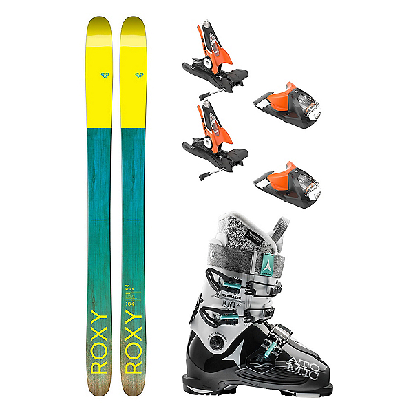 Roxy Shima 96 Waymaker 90 Womens Ski Package 2018, , 600