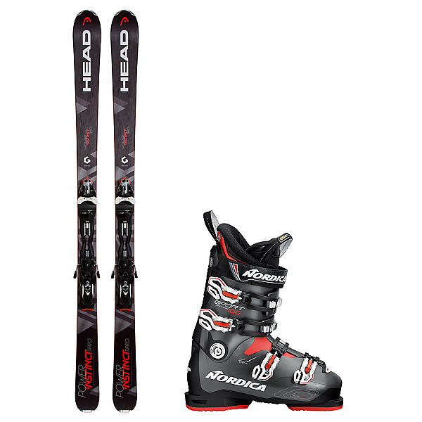 Head Power Instinct SW Ti Pro Sportmachine 100 Ski Package 2018, , 600