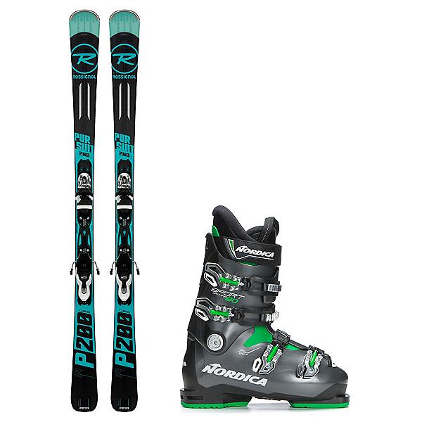 Rossignol Pursuit 200 Carbon Sportmachine 80 Ski Package 2018, , 600