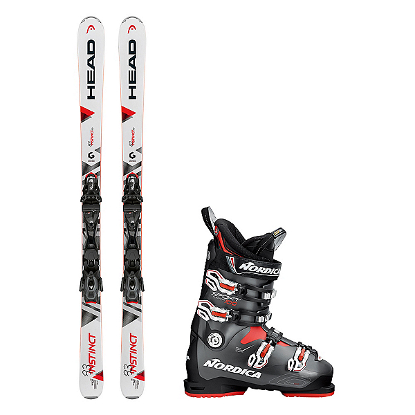 Head Instinct 83 R Sportmachine 100 Ski Package 2018, , 600