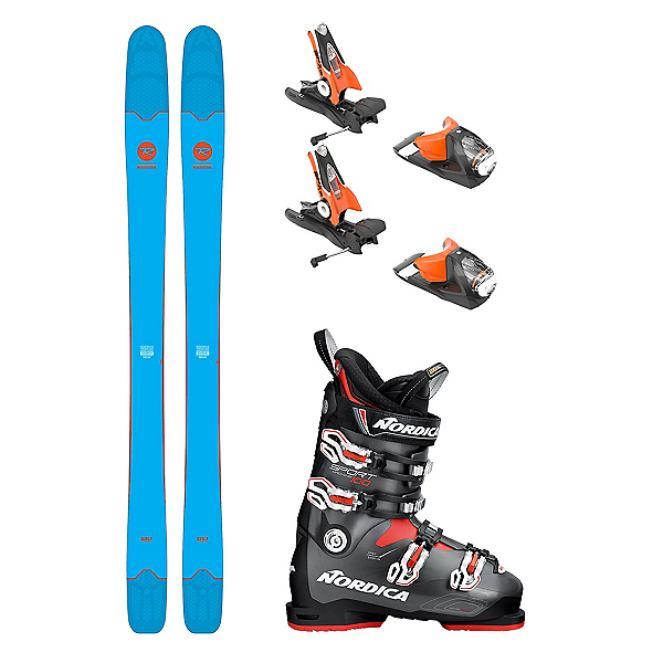 Rossignol Sin 7 Sportmachine 100 Ski Package, , 600