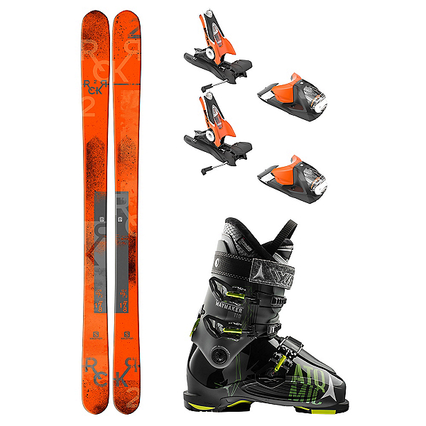 Salomon Rocker2 100 Waymaker 110 Ski Package, , 600
