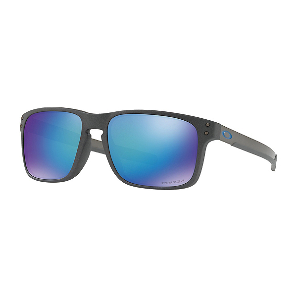 Oakley Holbrook Mix Prizm Polarized Sunglasses, Steel-Prizm Sapphire Polarized, 600
