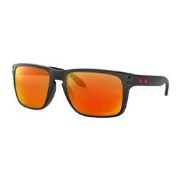 Oakley Holbrook XL Prizm Sunglasses, Matte Black-Prizm Ruby, 256