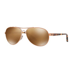 Oakley Feedback Prizm Polarized Womens Sunglasses, Rose Gold-Prizm Tungsten Polarized, 256