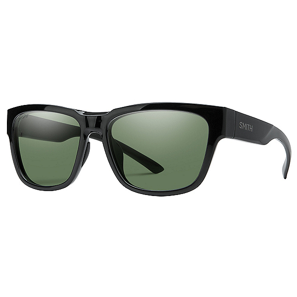 Smith Ember Polarized Sunglasses, Black-Chromapop Polarized Gray, 600