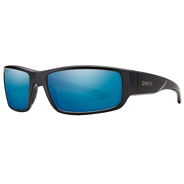Smith Survey Polarized Sunglasses, Matte Black-Polarized Blue Mir, 600