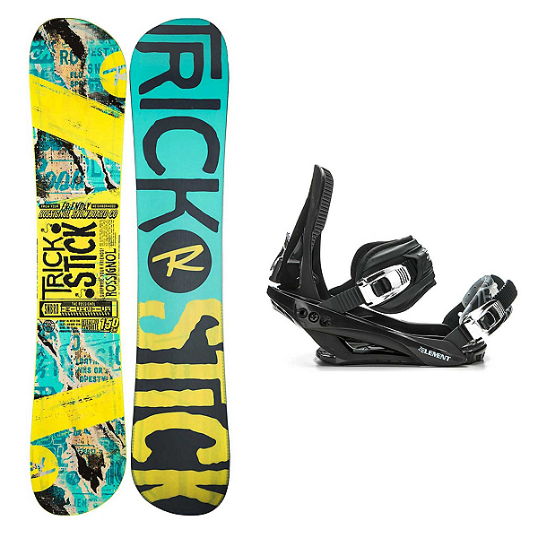 Rossignol Trickstick AF Stealth 3 Snowboard and Binding Package, , 600