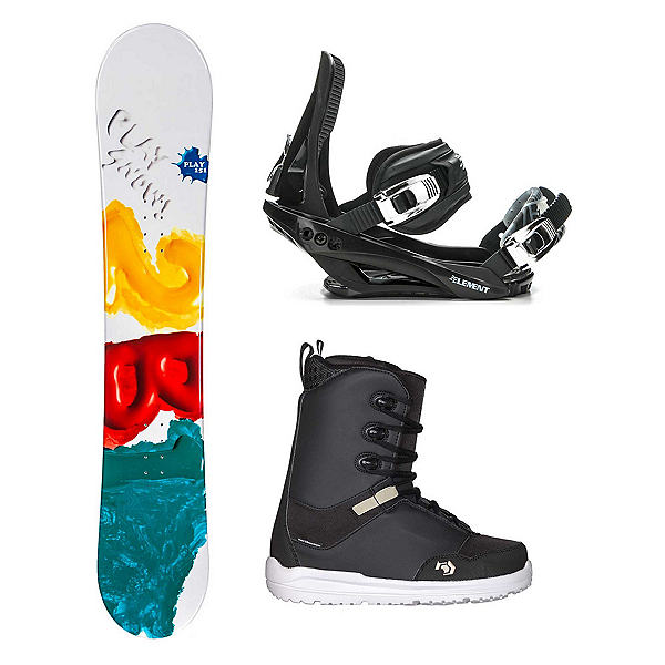 2B1 Play Green Supra Complete Snowboard Package, , 600