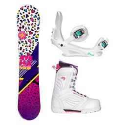 Stella Leo White Cosmo Womens Complete Snowboard Package 2018, , 256