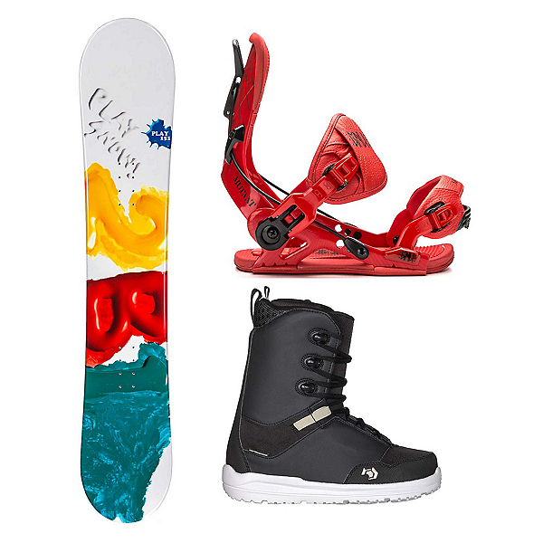 2B1 Play Green Supra Two Complete Snowboard Package 2018, , 600