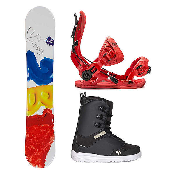 2B1 Play Red Supra Two Complete Snowboard Package 2018, , 600