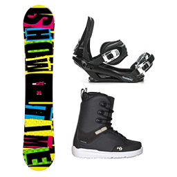 2B1 Showtime Yellow Supra Complete Snowboard Package, , 256