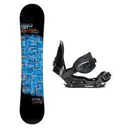 Liquid Generation Stealth Kids Snowboard and Binding Package 2018, , 256