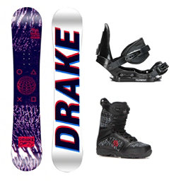 Drake DF3 Militia Kids Complete Snowboard Package, , 256