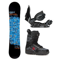 Liquid Generation Militia Kids Complete Snowboard Package, , 256