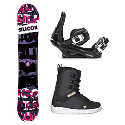 Silicon Crack Red Supra Complete Snowboard Package, , 256