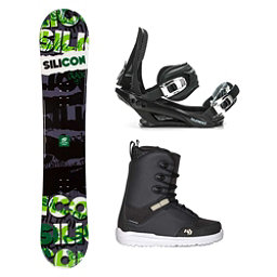 Silicon Crack Green Supra Complete Snowboard Package 2018, , 256
